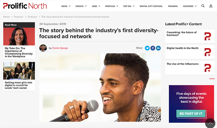 Story Behind Industry's First Diversity focused ad network